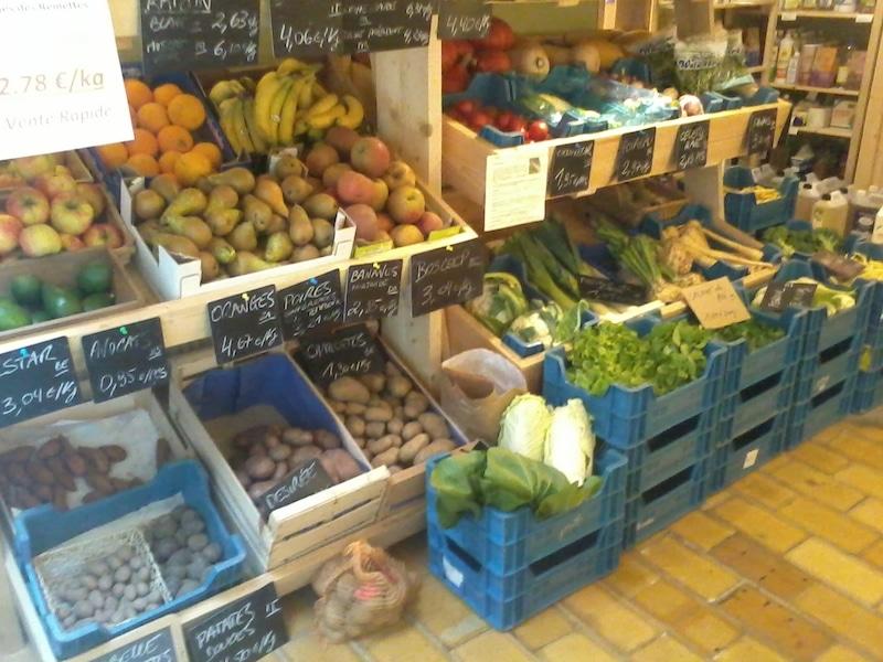 Étale aux légumes